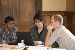 Google Summer of Code Intern Palash Oswal (left) at an week-long Arches community workshop held in the UK this summer.