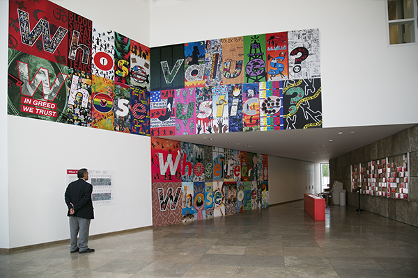 Installation view of Whose Values