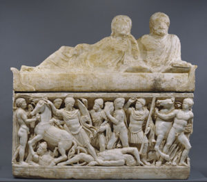 Sarcophagus with Scenes from the Life of Achilles / Roman
