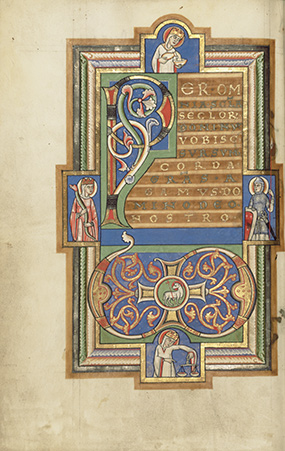 Decorated Text Page with a VD Monogram in the Stammheim Missal / German