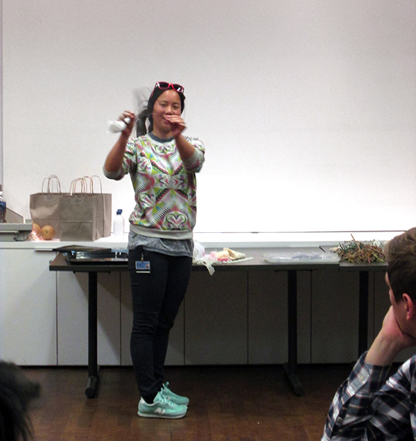 Artist Christine Nguyen teaches students as part of Community Photoworks 2015