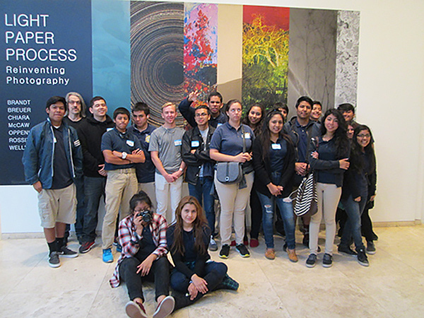 Students from Animo Charter, Venice, high school at the Getty