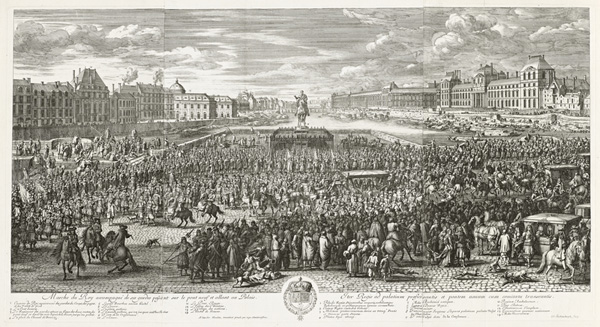 Procession of the King Accompanied by His Guards Crossing the Pont Neuf en Route to the Palace