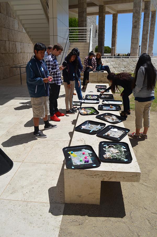 Community Photoworks - students create cyanotypes