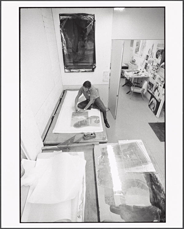 Robert Rauschenberg working at Gemini G.E.L., 1969, Malcolm Lubliner