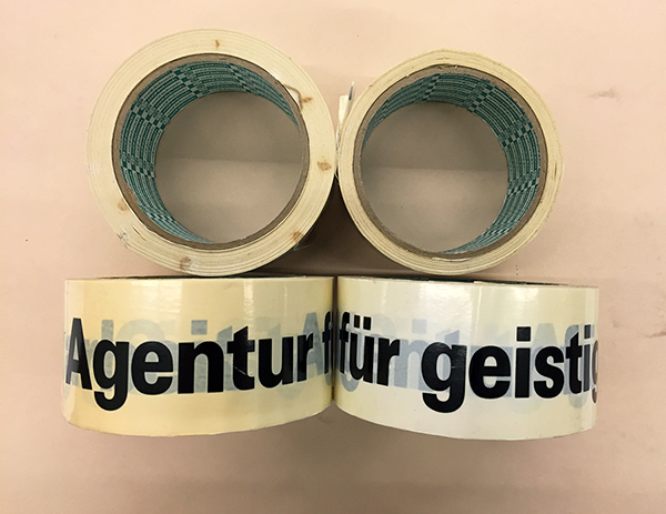 Tape for Harald Szeemann's Agentur für Geistige Gastarbeit (Agency for Intellectual Guest Labor)