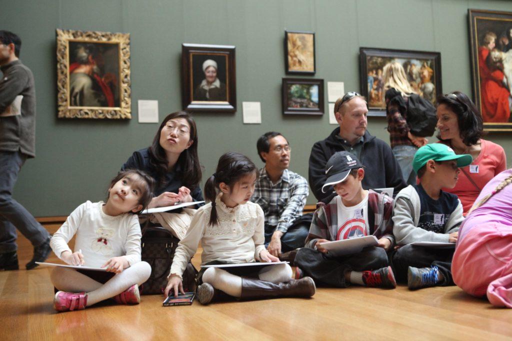 Children in gallery