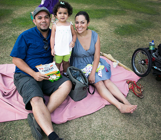 Family enjoying Garden Concerts for Kids at the Getty