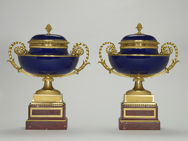 A pair of cassolettes made at the Sevres Manufactory