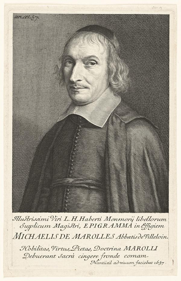 Portrait of the Print Collector Michel de Marolles / Nanteuil