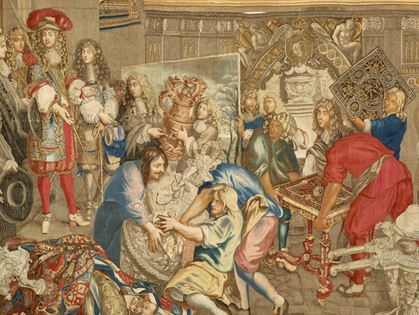 Louis XIV Visiting the Gobelins Workshop with Colbert, October 15, 1667