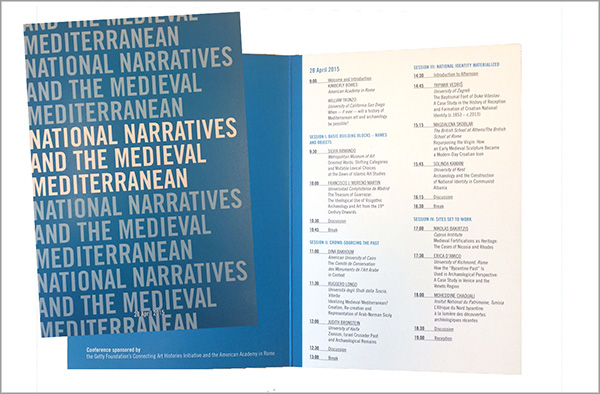 Program for the National Narratives public symposium