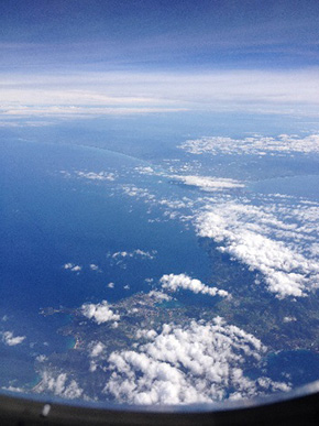 View of the Mediterranean from the air