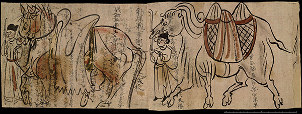Tribute Horse and Camel / Cave Temples of Dunhuang