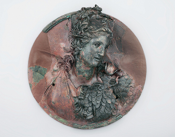 Medallion with Athena Wearing the Head of Medusa / Greek