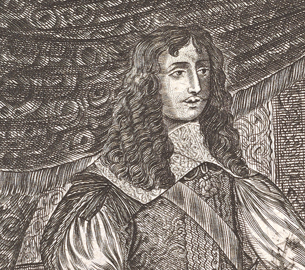 Detail of Louis XIV from the engraving The Reception of the King
