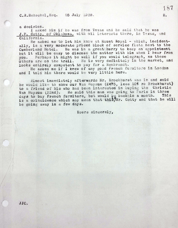 Letter from Cunningham to Henschel (Bottom)