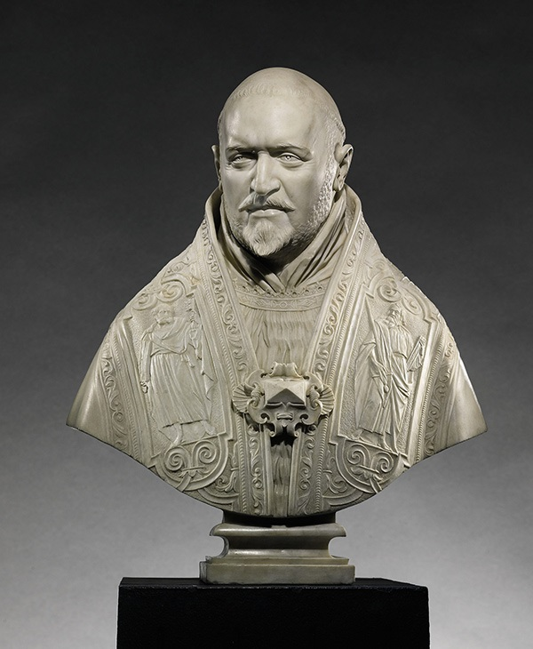 Bust of Pope Paul V, 1621, Gian Lorenzo Bernini. Marble. The J. Paul Getty Museum. Photo courtesy of Sotheby's