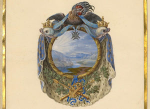 Escutcheon with a Landscape / Jacques Bailly