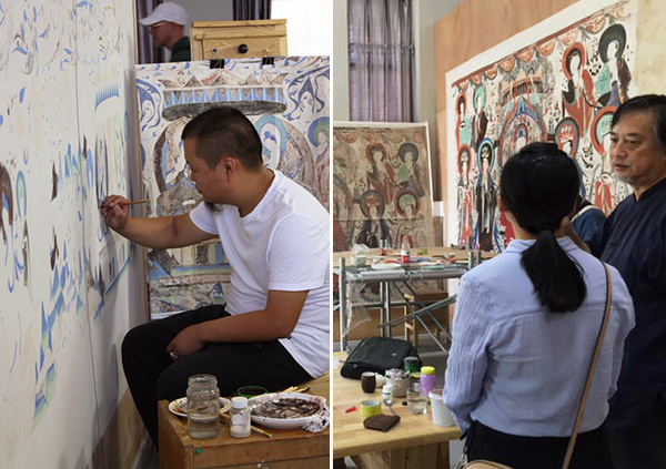 Artists in the Dunhuang Academy