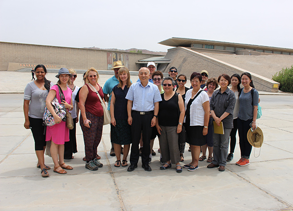 California teachers in Dunhuang, China
