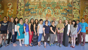 Our group at the Dunhuang City Museum
