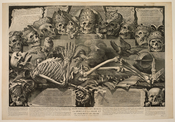 Vanitas with Skeleton: Death Is the Wages of Sin / Michel Mosin