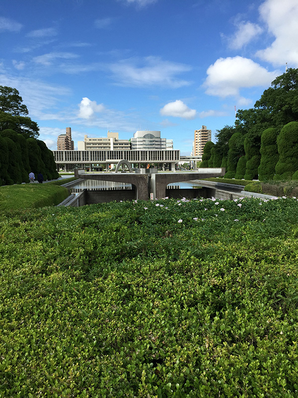 View of Peace Memorial Museum from Hiroshima Peace Memorial Park