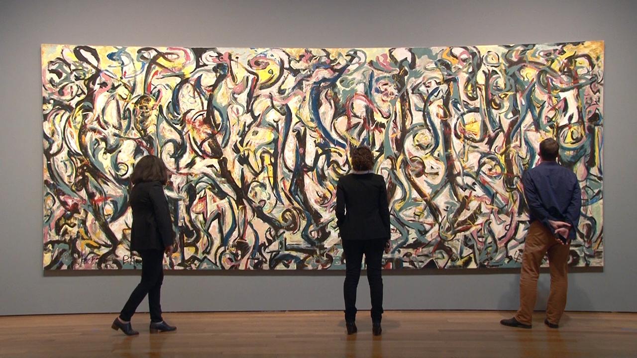 VIDEO: Exploring & Conserving Jackson Pollock's <em>Mural</em>