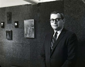 Felix Landau in his gallery on La Cienega