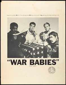 """Poster for """"War babies"""" exhibition"""